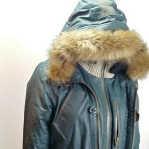 Superdry Limited S Jacket Wax Green Winter Coat